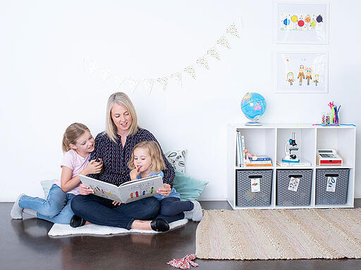 Connie with Kids in Playroom
