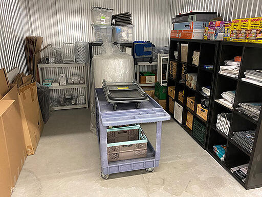 storage unit with shelving